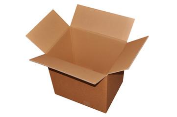 carton d'emballage ouvert
