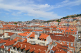Colourful rooftops in Lisbon,Portugal.
