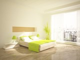 Fototapety white bedroom design in the home