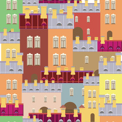 vector background of the city