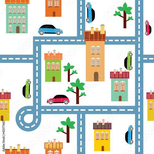 Foto op Plexiglas Op straat vector background of the city