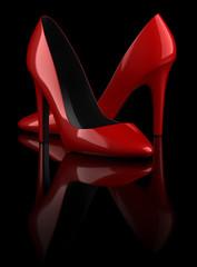 Chaussures à talon sur fond noir 1