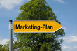 Pfeil mit Baum MARKETING PLAN