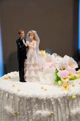 Closeup of wedding cake