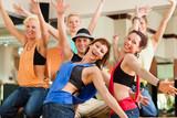 Fototapety Zumba or Jazzdance - young people dancing