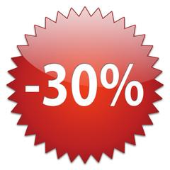 sticker red percentage 30
