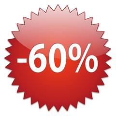 sticker red percentage 60