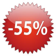 sticker red percentage 55