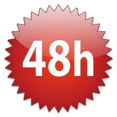 sticker red 48h