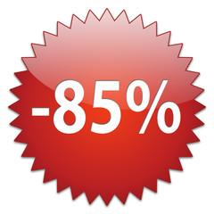 sticker red percentage 85