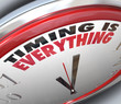 Timing is Everything Words on Clock Punctual Speed