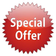 sticker red special offer