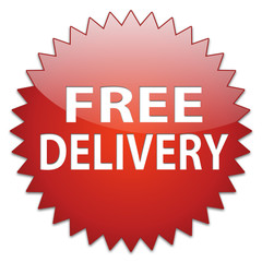 sticker red free delivery