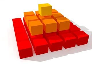 Pirámide de cubos