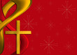 Red and gold religious Christmas background