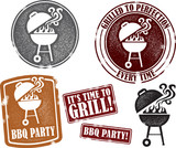 Fototapety Distressed BBQ Graphics
