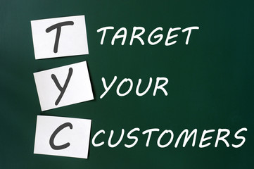 'Target your customers' concept