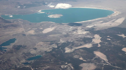 Aerial view from an airplane over Nevada/California