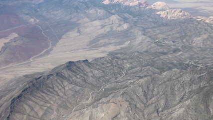 Aerial view from an airplane near las vegas