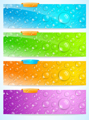 Stylish water drop banners