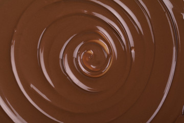 twirling chocolate