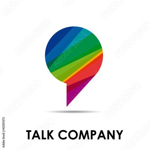 Logo talking # Vector