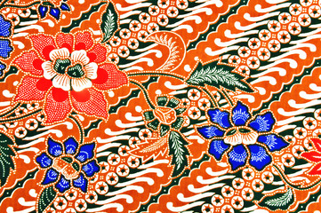 Color of batik pattern