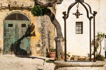 Quiet square in a maltese town