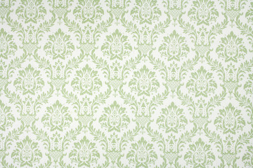 Light Green Fleur de Lis Fabric