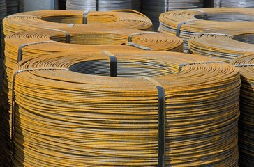 rouleaux de fil d'acier, armature industrielle
