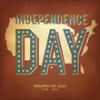 Retro style poster for Independence Day Celebration. Vector illu