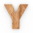 3d Font Wood Character Y