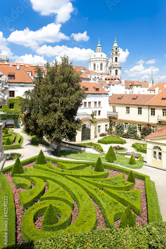 Vrtbovska Garden and Saint Nicholas Church, Prague, Czech Republ