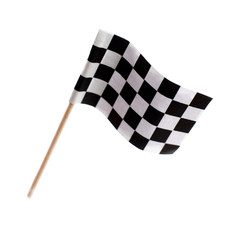 drapeau a damiers sur fond blanc