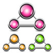 blank buttons, vector