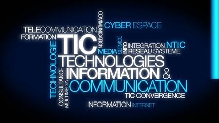 TIC Technologies Information et Communication nuage de mots