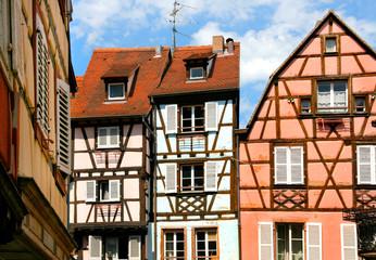 Fachwerkhäuser in Colmar / Elsass, Frankreich