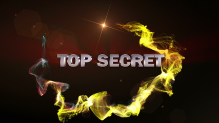 TOP SECRET Text in Particle (Double Version) Red - HD1080