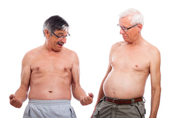 Seniors compare body shape