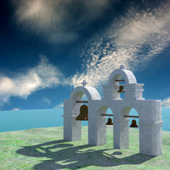 Greek Architecture with bule sky for adv or others purpose use