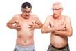 Two naked seniors