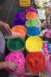 bright Indian colors , Holi festival, Jaipur, Rajasthan , India