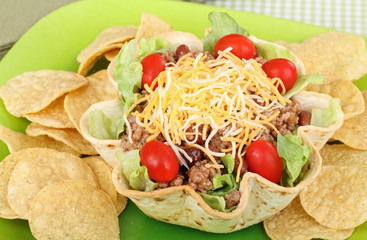 Taco Salad and Chips