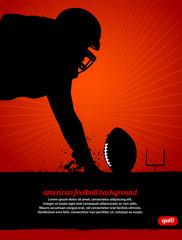 American Football Vector Poster