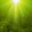 Olive Green bubbles luminous rays background Lumiray-B