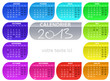 calendrier 2013 rectangle arrondi  votre texte