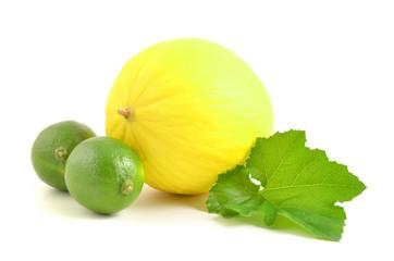 Honigmelone und limette