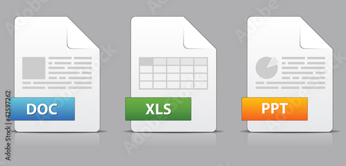 Icons for office file extensions - 42597262