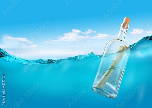 Fototapeta Bottle with a message
