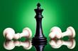 black king defeates white pawns